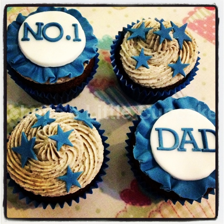 Father day cupcakes