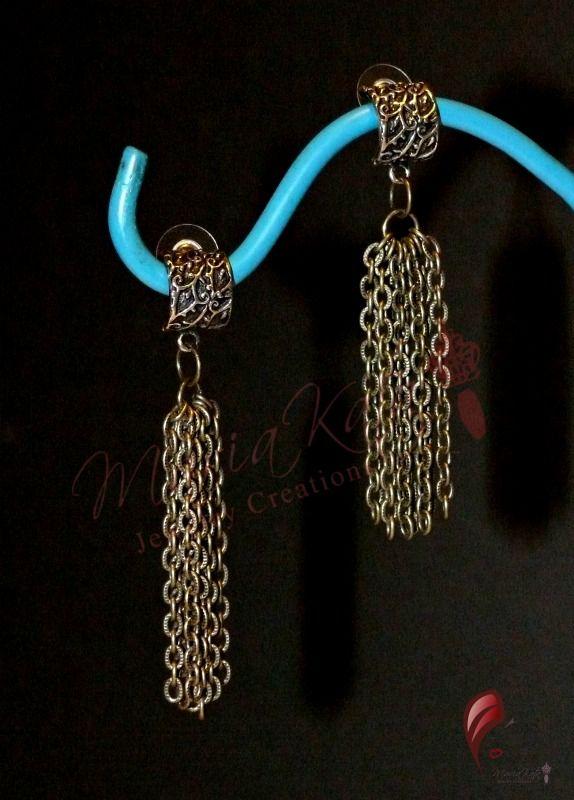 Post chain earrings- $10.00