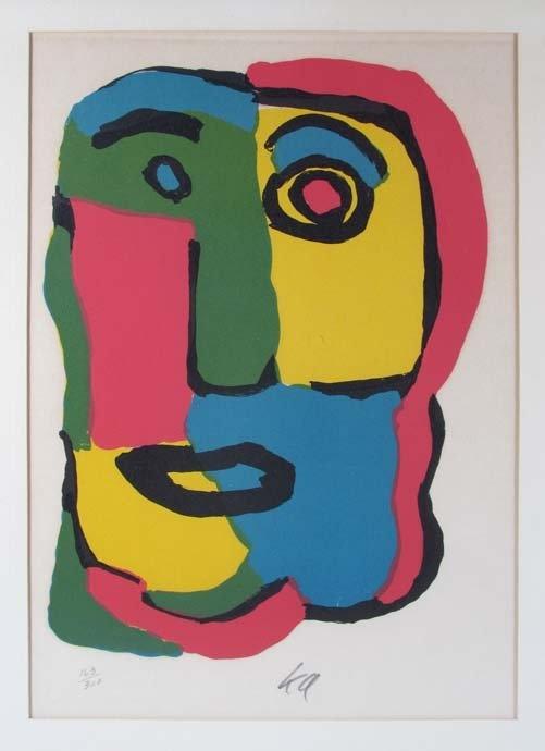 "Karel Appel Orig Lith ""Head Study""  http://www.liveauctioneers.com/item/17612523_karel-appel-orig-lith-head-study"