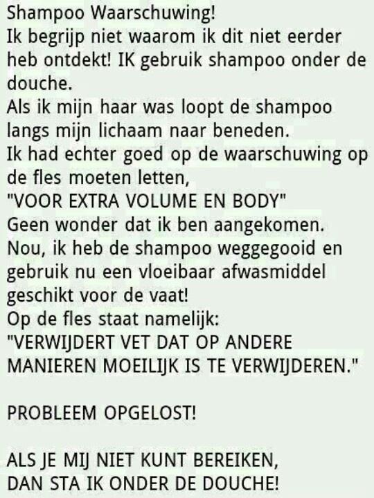Waarom geen shampoo?