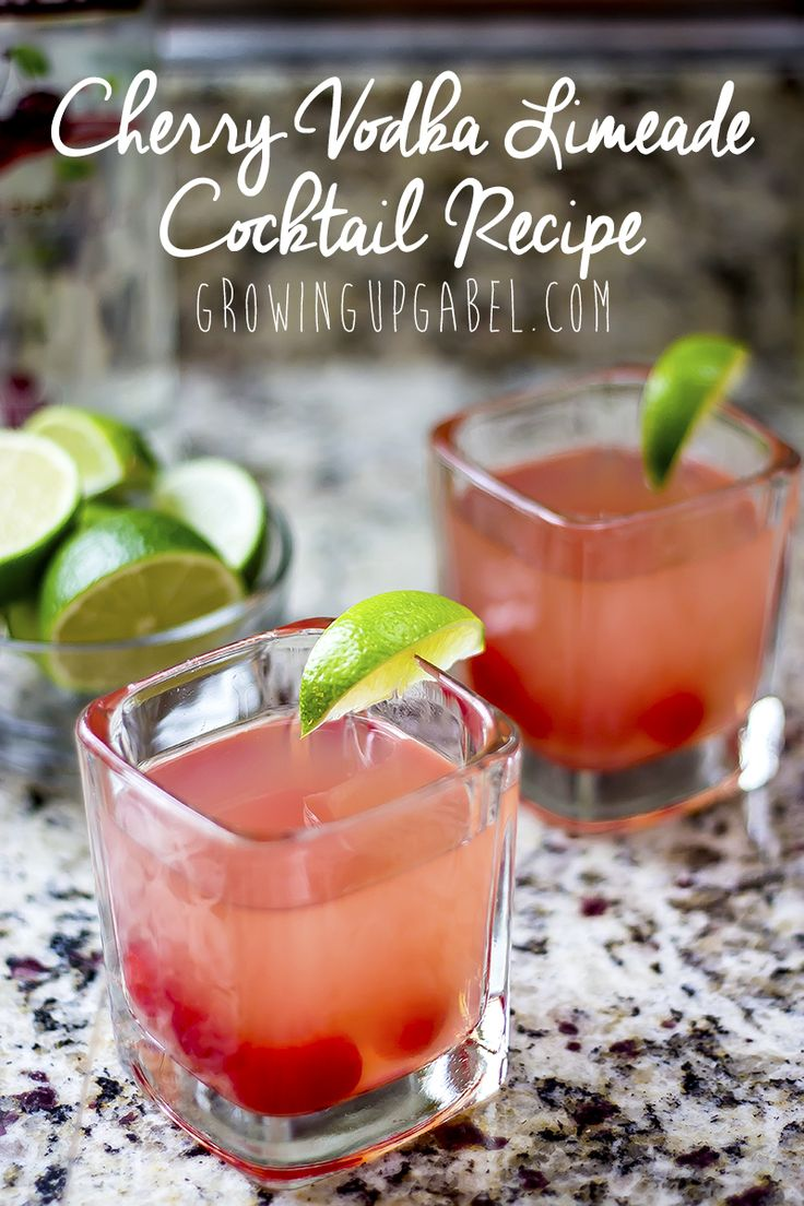 This adult version of cherry limeade is all the flavors of summer with a little extra kick! Made with vodka, this cocktail recipe is super versatile and easy to make for one person or an entire bowl for a fun summer punch.