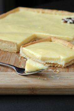 Tarte au citron, ma chouchoute du moment, avec une crème au citron sans beurre…