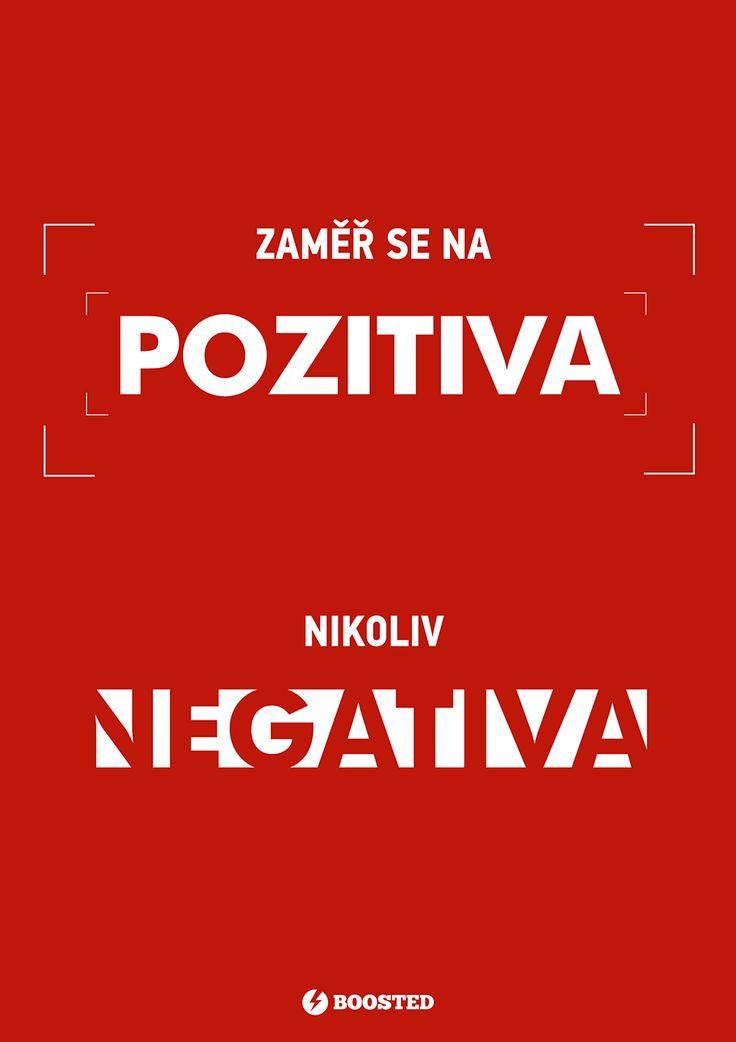 Motivační plakát Pozitiva (Česky)