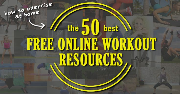 Want to exercise at home right now? These are the 50 best free online workout videos. Yoga, resistance training, Pilates, core, cardio, dance, it's all here!