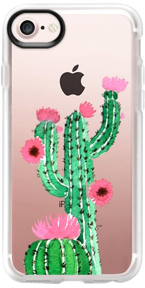 Casetify iPhone 7 Classic Grip Case - Cactus watercolor n.1 by Psychae  #casetify #casetifyartist