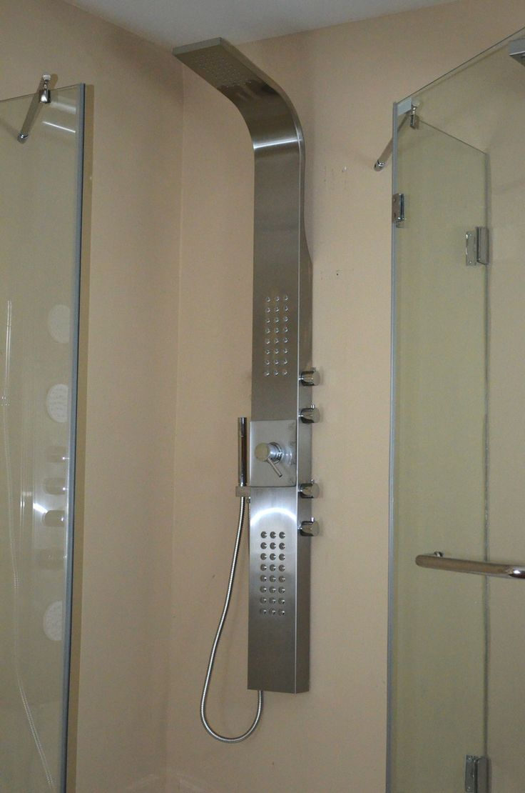 Stainless Steel Shower Panel Massage System With Overhead