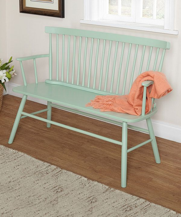 Look at this Mint Shelby Bench on #zulily today!