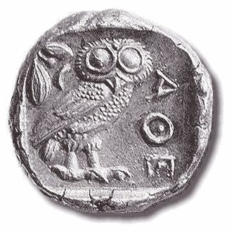 IT IS THE MARK OF ATHENA Athenian coin