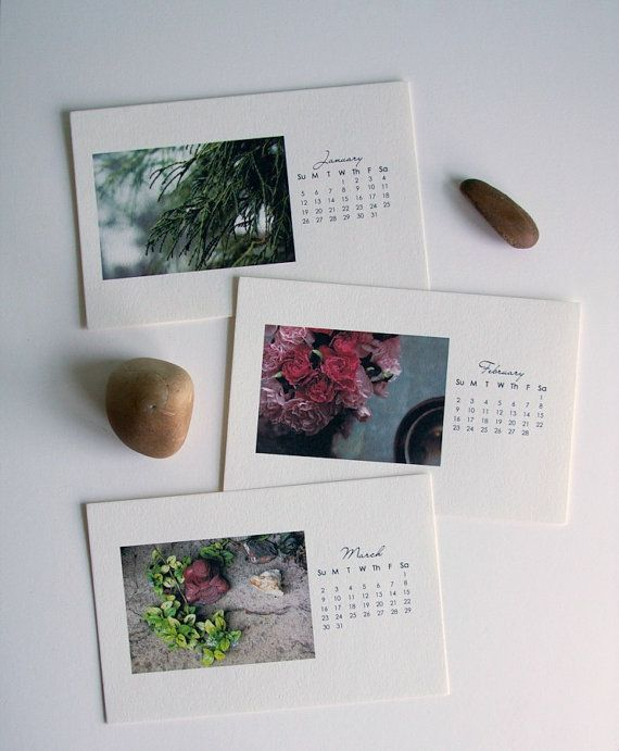 2014 Nature Photography Calendar Modern Luxurious Textured Paper on Etsy, $25.00