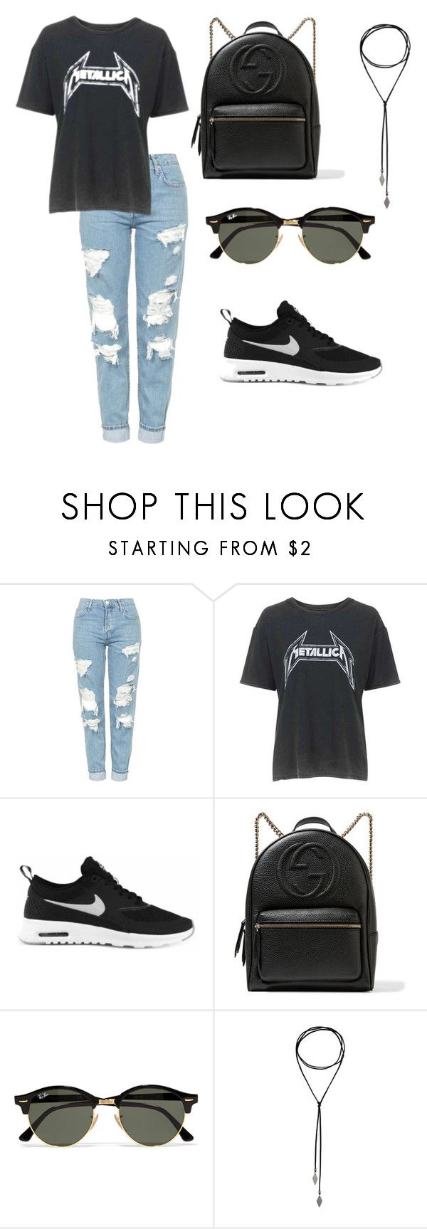 """Untitled #30"" by alexa-str on Polyvore featuring Topshop, NIKE, Gucci and Ray-Ban"