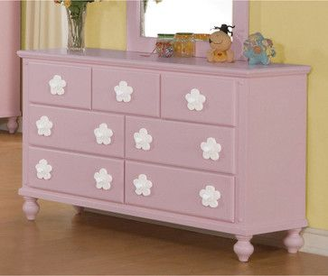 Pink/White Flower Dresser contemporary-kids-dressers-and-armoires