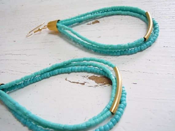 bead earrings-with coordinated bracelet