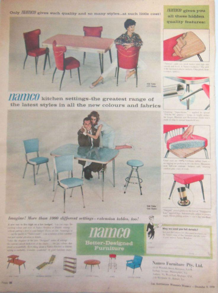 Namco Mid Century Furniture Ad 1959 Original Vintage