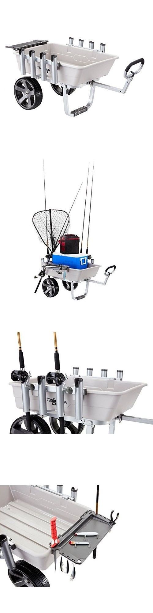 Fishing Carts and Wagons 179993: Beach Fishing Cart Wheels Equipment Rolling Terrain Tire Outdoor Tub Rod Ocean -> BUY IT NOW ONLY: $203.83 on eBay!