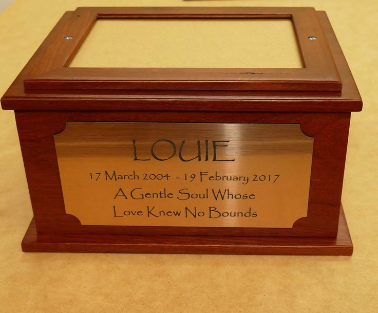 Wooden urns made and engraved to order. With receipt of your order, a layout is prepared and emailed for you to review
