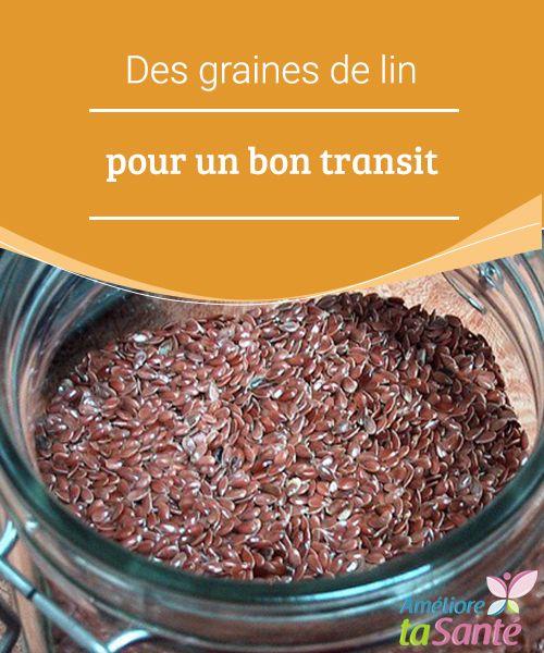 Des graines de lin pour un bon transit   Même s'il est vrai que la constipation dépend en grande partie de la quantité de fibres que vous consommez, il faut savoir qu'il existe différents facteurs qui jouent sur la facilité ou non à évacuer les selles.