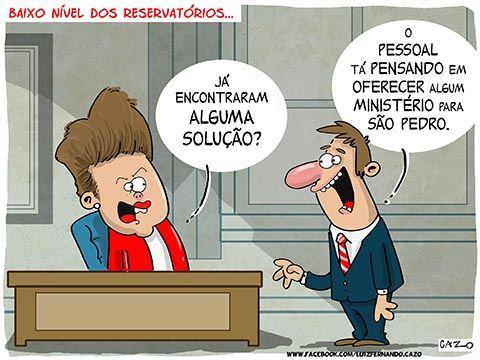 Baixo nivel dos reservatorios - Dilma já tem a solução para encher os reservatórios!