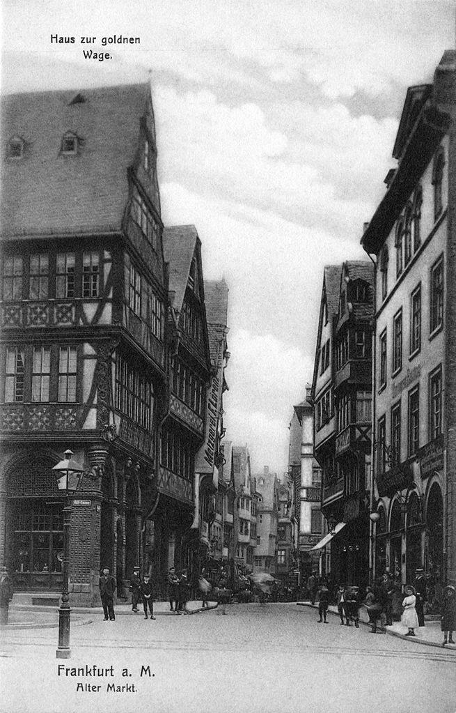 Pre-war Frankfurt: Markt, vom Domplatz nach Westen
