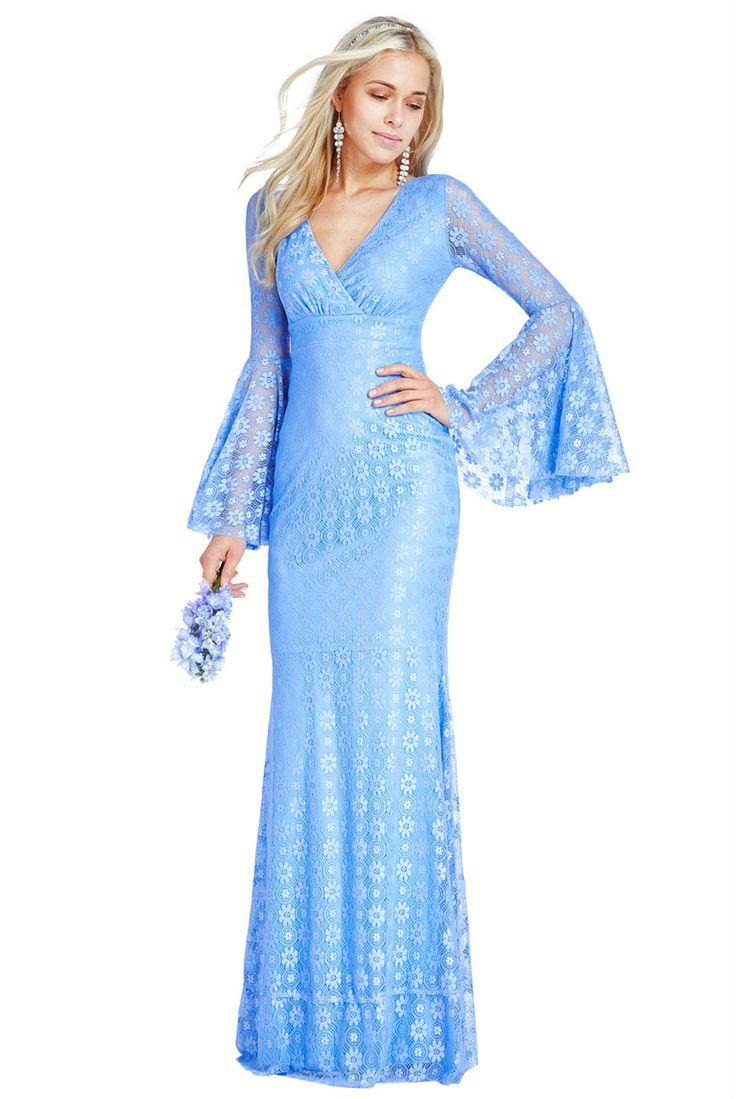 BG20020. Gorgeous retro powder blue lace dress. perfect for a wedding or ball