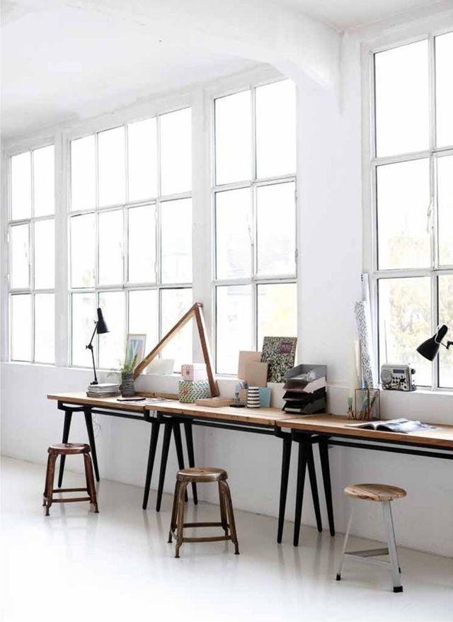 Studio with big windows