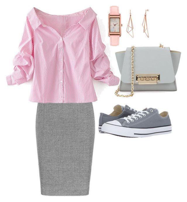 """""""Casual"""" by pitaa29 on Polyvore featuring WithChic, ZAC Zac Posen, Converse and Ted Baker"""