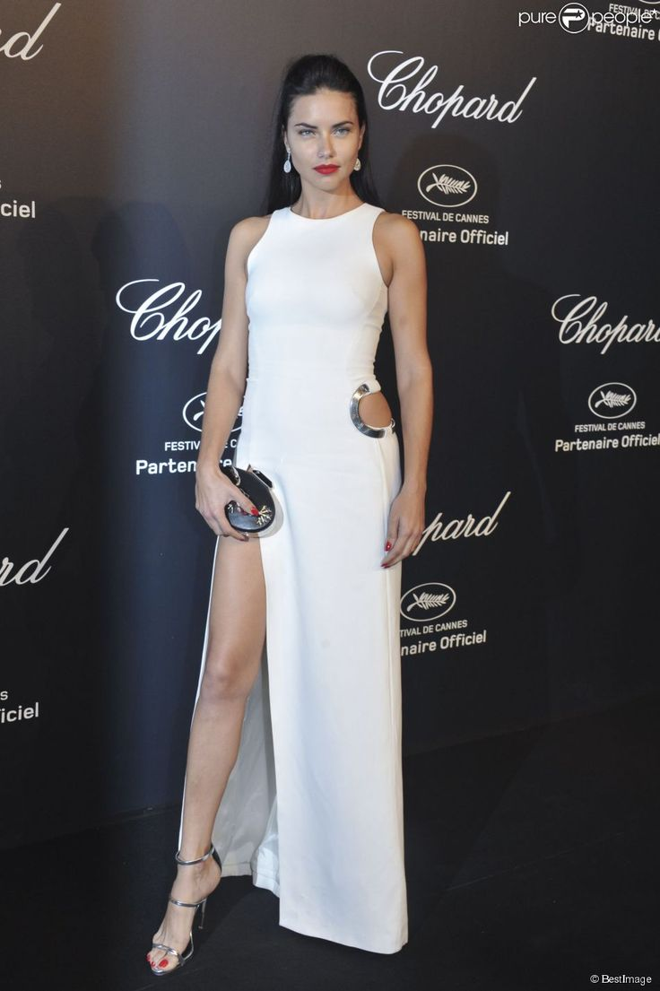 Adriana Lima Chopard Gold Party, Cannes 2015