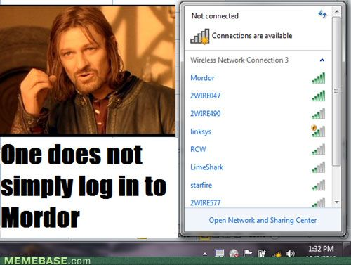 Best Wifi Lord Of The Rings Names