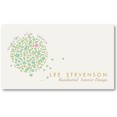 Creative Interior Designer Business Card