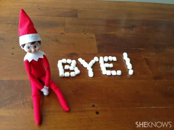 Aww! How to have Elf on the Shelf say goodbye on Christmas Eve -- love all these ideas