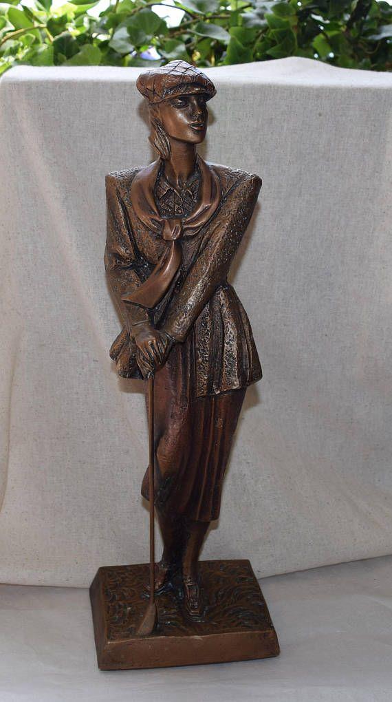 Austin Sculpture Statue Woman Birdie Bronze Sculpture // by