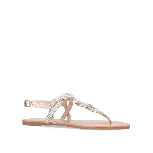 Gold 'Danni 2' flat sandals