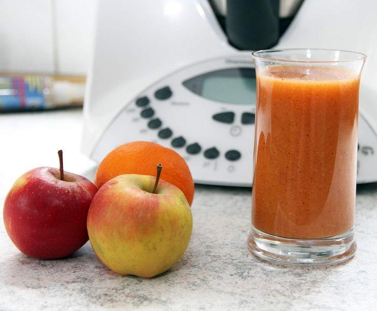 Rezept Apfel-Orange-Kiwi-Smoothie von Kochfee Dithmarschen - Rezept der Kategorie Getränke