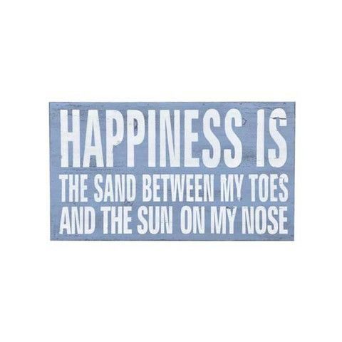 Beach Plaque - Happiness Is
