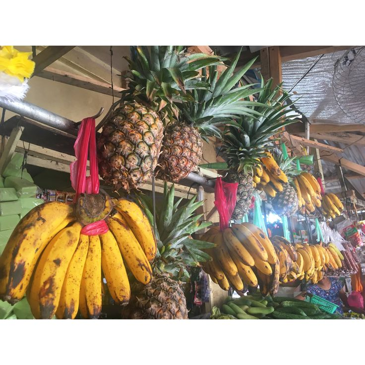 #Philippines #siargao #siargaoisland #summer #beach #palm #bikini #market #fruits #banana #pineapple