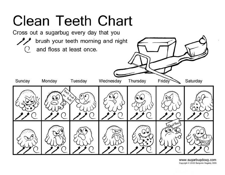 Coloring pages of teeth brushing charts ~ 17 Best images about Kids Dental Health on Pinterest
