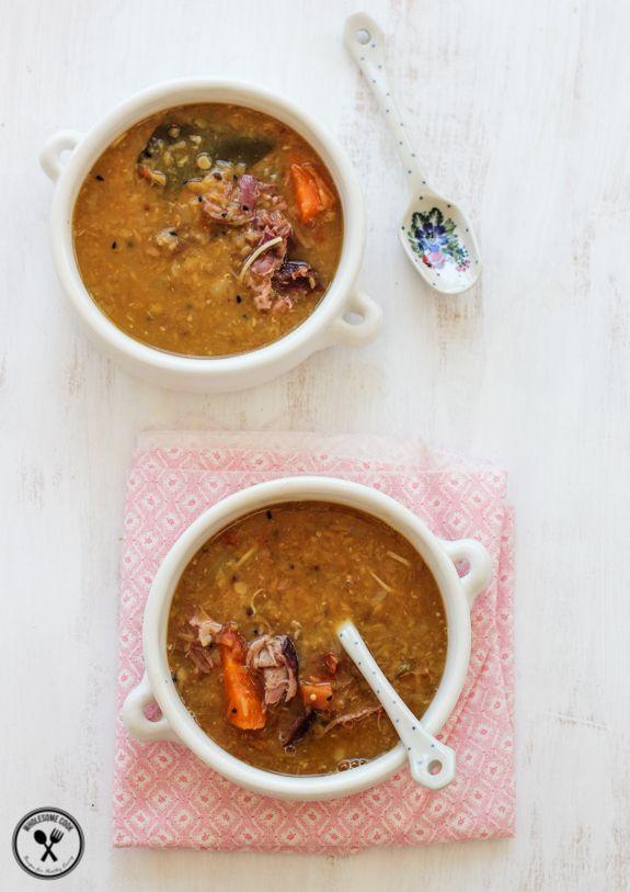 Fragrant Lentil Coconut and Ham Hock Soup   Wholesome Cook