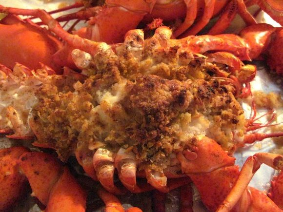 Linda's  New England Baked Stuffed Lobster - The BEST recipe!  Now you can make this luscious lobster at home and enjoy a restaurant quality dinner at home!  Come join us at Recipezazz.com for the absolute best recipes ever!