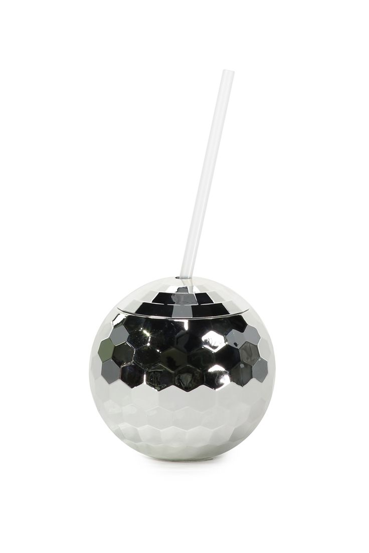 """Get the party started with the Shimmer ball drinker! <br /> Drink away in true disco style. <br />  <br />  FEATURES & BENEFITS<br /> •BPA Free<br /> •Made from food safe plastic<br /><br />  Dimensions: 10cmH x 10cmW/ 3.9""""H x 3.9""""W <br> Volume: 600mL/ 20.3 fl. oz. <br /> Composition: Body: AS Lid:ABS, Straw:PP<br />  <br />  • Hand wash only<br /..."""