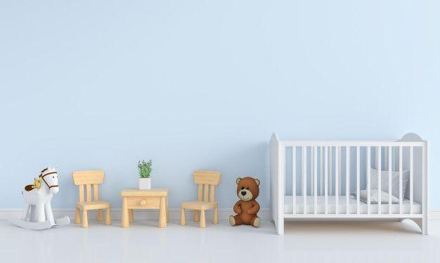 Wnetrze Pokoju Dziecka Niebieski Makieta Modern Nursery Art Nursery Art Baby Boy Nursery Decor