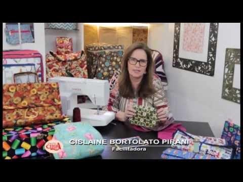 A facilitadora Gislaine Bortolato Pirani ensina uma bolsinha em patchwork com três divisórias. - YouTube
