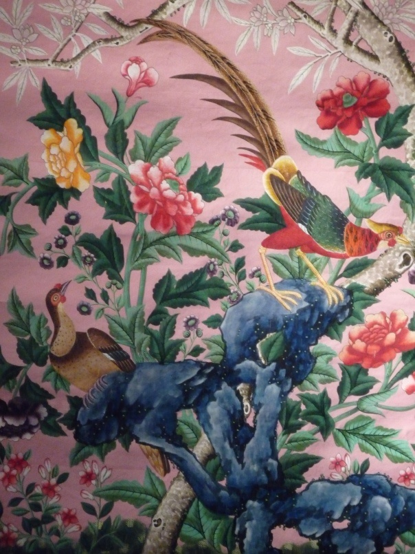 Gorgeous wallpaper at the Winter Antiques Show