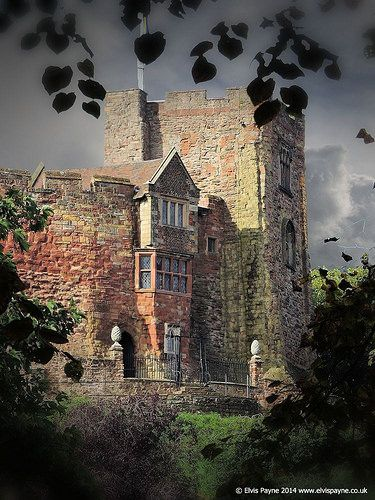 Very romantic capture of Tamworth Castle in Shropshire, England, built in the 1080's