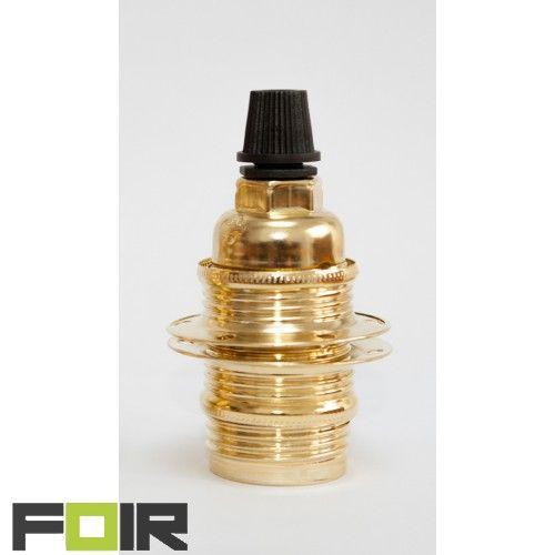 FOIR.nl | Messing e14 fitting voor kleine lampenkappen http://foir.nl/metalen-fittingen/messing-e14-fitting.html