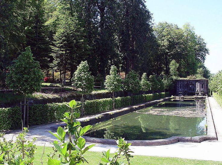 Chateau trevarez bassin et fontaine de la chasse et de la for Jardin italien