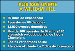 Gana dinero con William Hill, haz click en la imagen para registrate