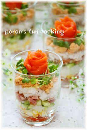 ✿パーティーに♪コブサラダカップ寿司✿の画像