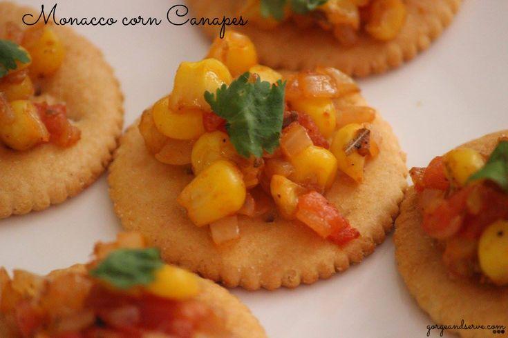 Monacco corn Canapes