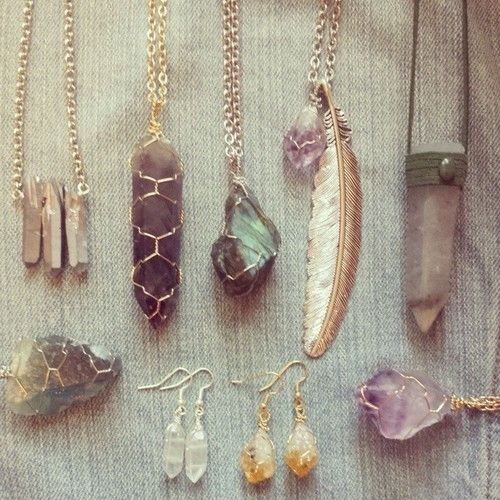 Handmade wire wrapped raw crystal jewellery. Available ... - photo#43