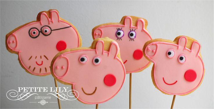 Biscoitos de Peppa pig/ Peppa pig decorated cookies