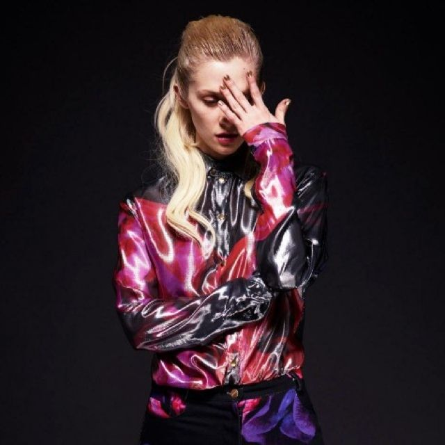 KATIE EARY AW13 DEATH IN BLOOM LAME SHIRT